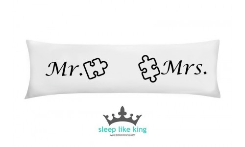 PUZZLE KINGPILLOW 160 x 50 cm - poducha Mr and Mrs