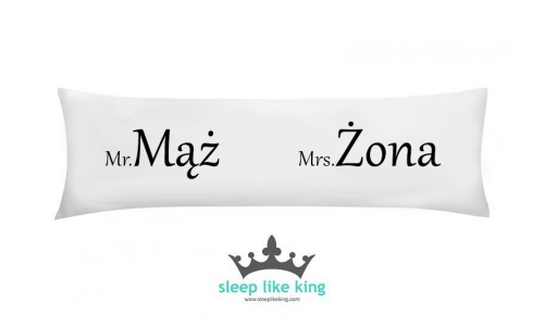 Mr. MĄŻ Mrs. ŻONA KINGPILLOW 160 x 50 cm - poducha Mr and Mrs